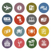 Erholung, reisen & urlaub, icons — Stockvektor