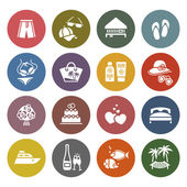 Tourism, Recreation & Vacation, icons set — Vettoriale Stock