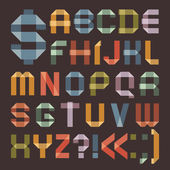 Font from colored scotch tape - Roman alphabet — Stok Vektör