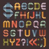 Teckensnitt från färgad tejp - latinska alfabetet — Stockvektor