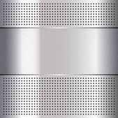 Metallic perforated chromium steel sheet, 10eps — Wektor stockowy
