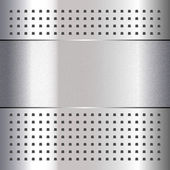 Scratched, on chrome metal background, 10eps — Stock Vector
