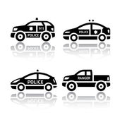 Set of transport icons - Police cars — Stock Vector