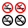 Set symbols - No smoking — Stock Vector