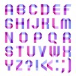 Spectral letters folded of paper ribbon-purple - Stock Vector