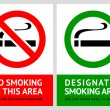 No smoking and Smoking area labels - Set 1 — Stock Vector