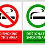 No smoking and Smoking area labels - Set 1 — Stock Vector #19697553