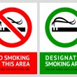 Royalty-Free Stock Vector Image: No smoking and Smoking area labels - Set 2