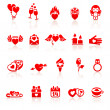 Royalty-Free Stock Vector Image: Set valentine\'s day red icon