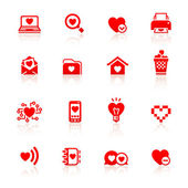 Set valentine's day red symbols — Stock Vector