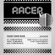 Business card driver race — Vektorgrafik