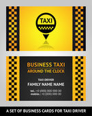 Business cards taxi driver — Stock Vector