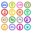 Travel, Vacation & Recreation, icons set - Stock Vector