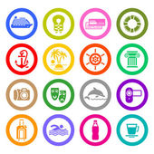 Travel, Vacation & Recreation, icons set — Stock Vector
