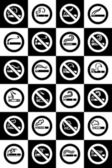 No smoking and Smoking area labels - Big set — Stock Vector