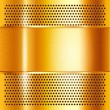Metal sheet gold — Stock Vector