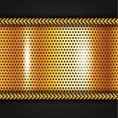 Gyllene metallisk yta — Stockvektor