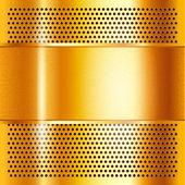 Ouro de folha de metal — Vetor de Stock