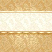 Golden flower on background. Square — Stock Vector