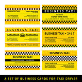 Business card taxi - sixth set — Stock Vector