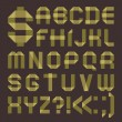 Font from greenish scotch tape -  Roman alphabet - Image vectorielle