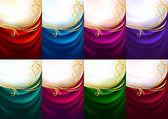 Holiday backdrops - Set colored fabrics — Stock Vector