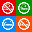 No smoking are- Stickers — Stock Vector #21596657