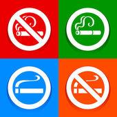 No smoking area - Stickers — Stock Vector