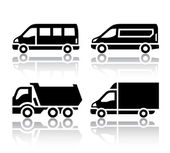 Set of transport icons - freight transport — Stock Vector