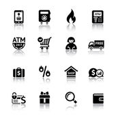 Set shopping icons — Vector de stock