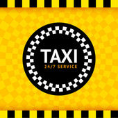 Taxi round symbol — Stock Vector