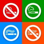 Stickers multicolored - No smoking symbol — Stock Vector #21720675
