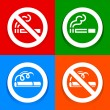 Stickers multicolored - No smoking area sign — Stock Vector