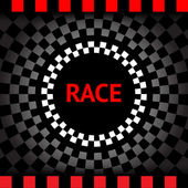 Race-square-black-background — Stock Vector
