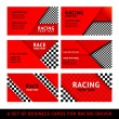 Business card driver race - second set — Stock Vector