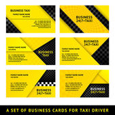 Business card taxi - ninth set — Stock Vector