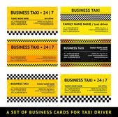 Business card taxi - seventh set — Vettoriale Stock