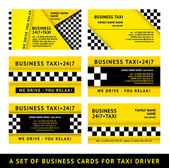 Business card taxi - tenth set — Stock Vector