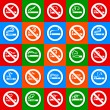 No smoking and smoking area - Big set stickers — Stock Vector