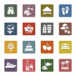 Tourism, Recreation & Vacation, icons set — Stock Vector