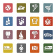Recreation, Vacation & Travel, icons set — Stock Vector #22497525