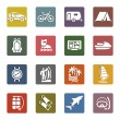 Vacation, Recreation & Travel, icons set - Stock Vector