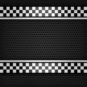 Metallic perforated sheet gray — Stock Vector