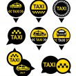 Stock Vector: Taxi - Emblems