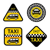 Taxi - set four labels — Stock Vector