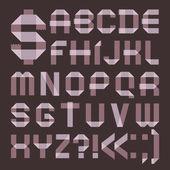 Polices de lila scotch tape - alphabet romain — Vecteur