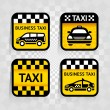Taxi - set square stickers — Stock Vector