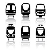 Set of transport icons - Train and Tram — Stock Vector