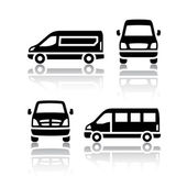 Set of transport icons - Cargo van — Stock Vector