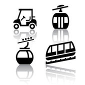 Set of transport icons - Recreation — Stock Vector